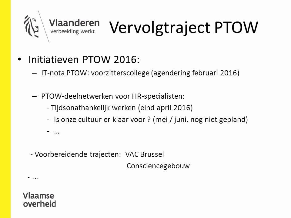 Vervolgtraject PTOW Initiatieven PTOW 2016: