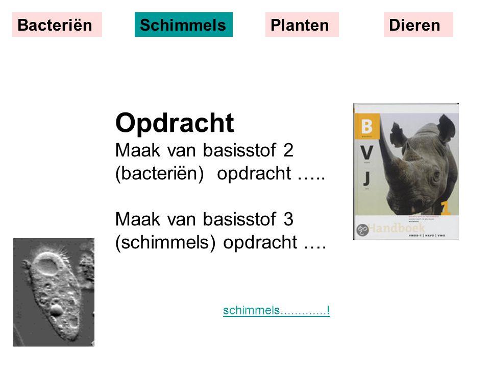 Opdracht Maak van basisstof 2 (bacteriën) opdracht …..
