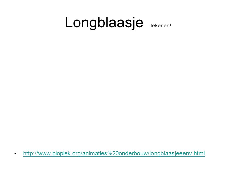 Longblaasje tekenen! http://www.bioplek.org/animaties%20onderbouw/longblaasjeeenv.html