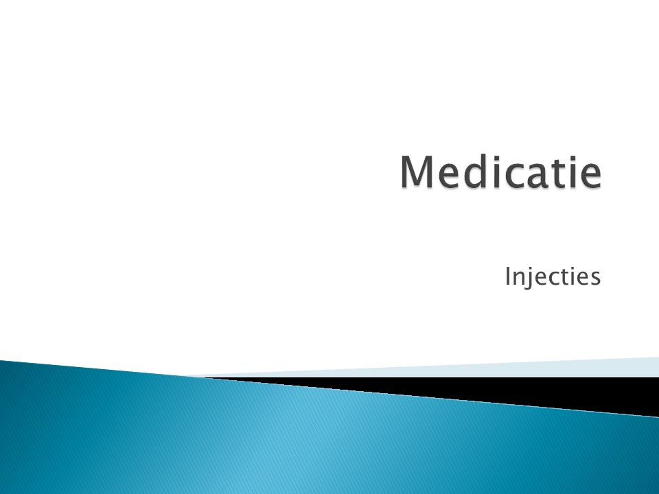 Medicatie Injecties