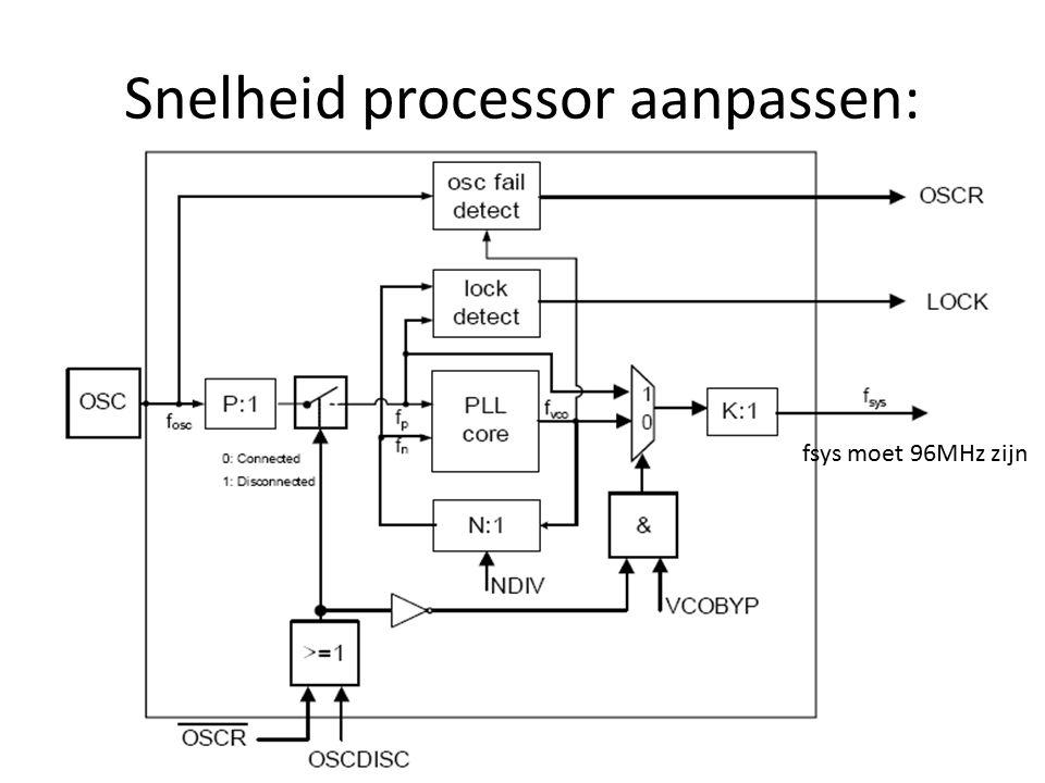 Snelheid processor aanpassen: