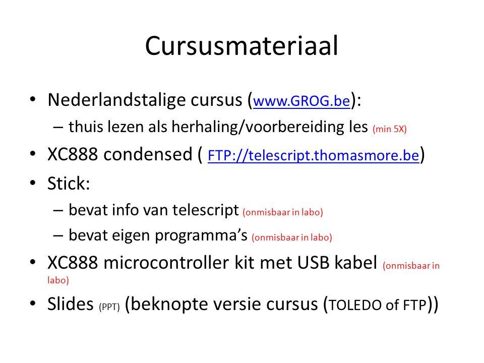 Cursusmateriaal Nederlandstalige cursus (www.GROG.be):