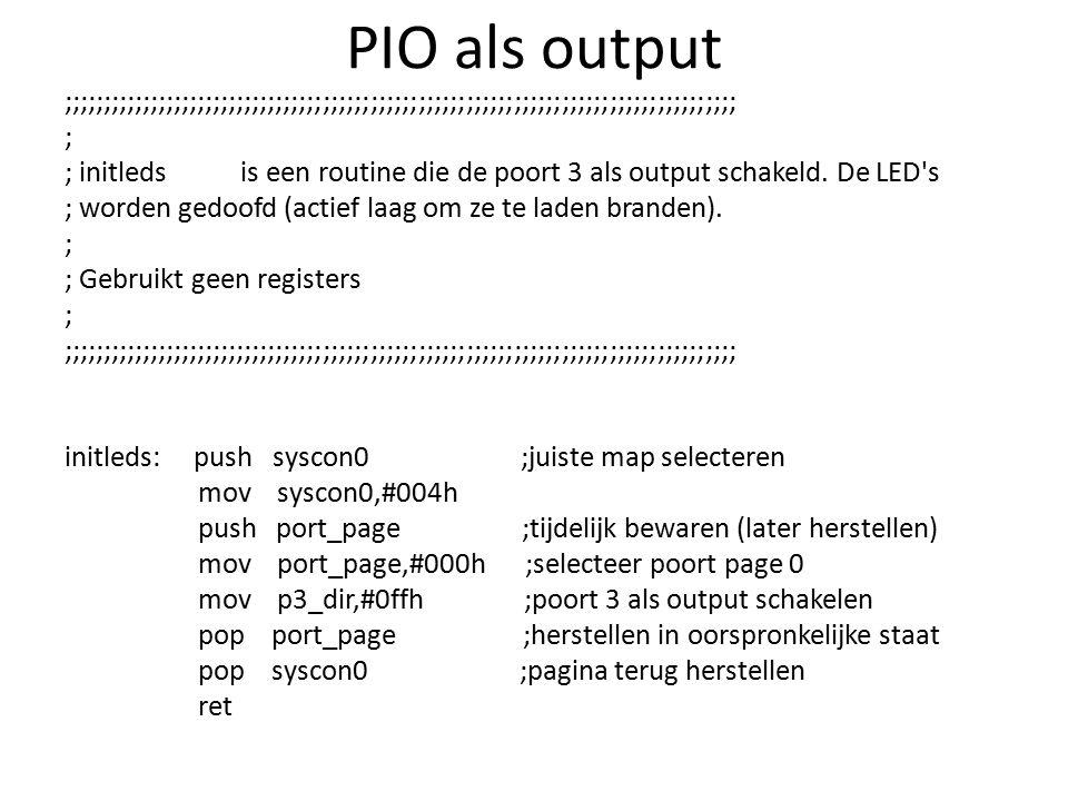 PIO als output
