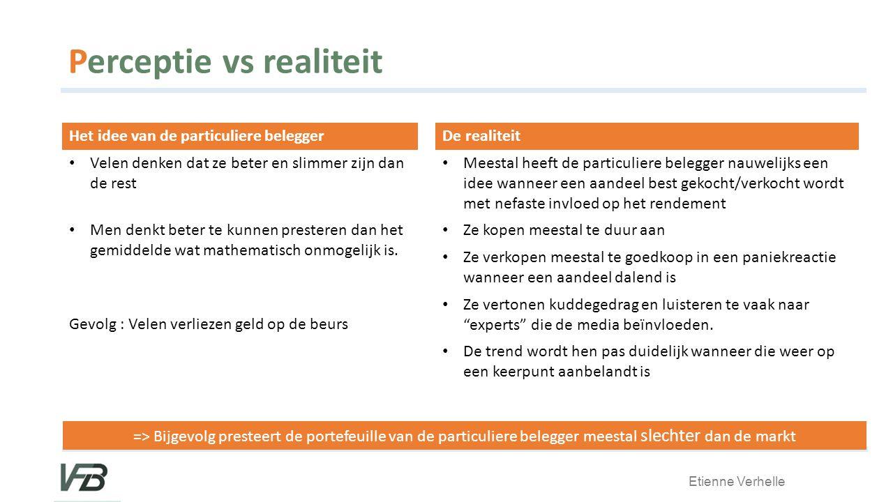 Perceptie vs realiteit