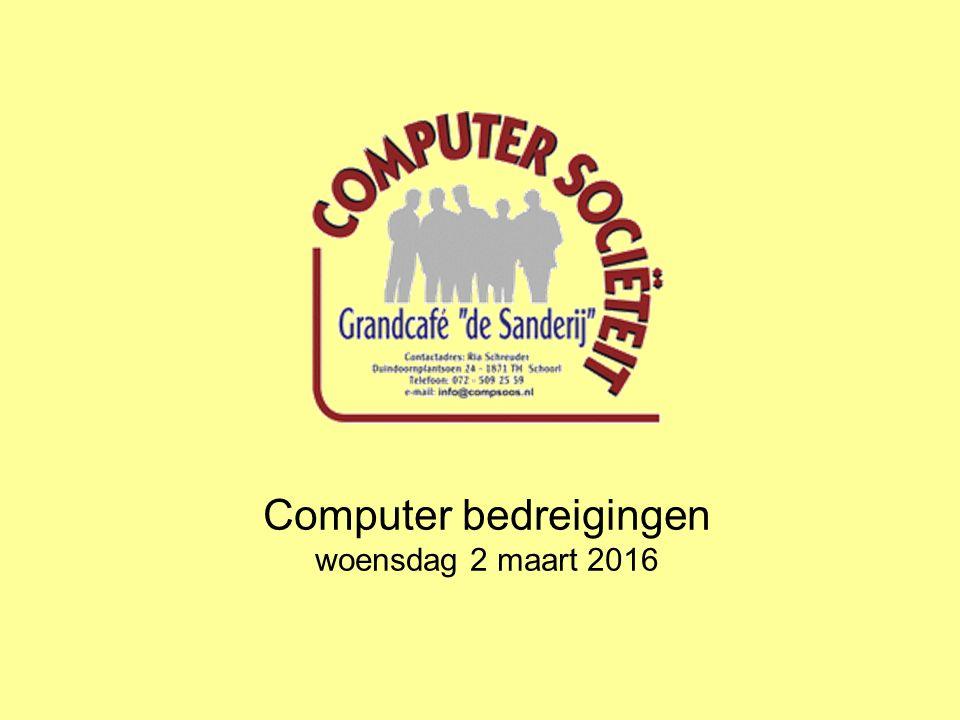 Computer bedreigingen woensdag 2 maart 2016