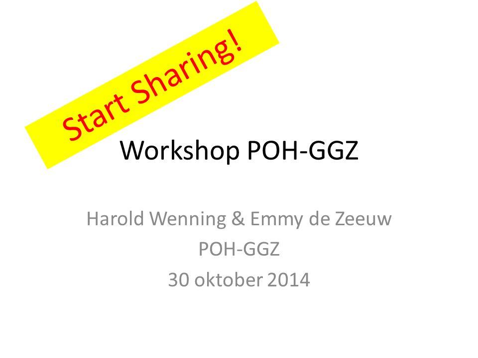 Harold Wenning & Emmy de Zeeuw POH-GGZ 30 oktober 2014