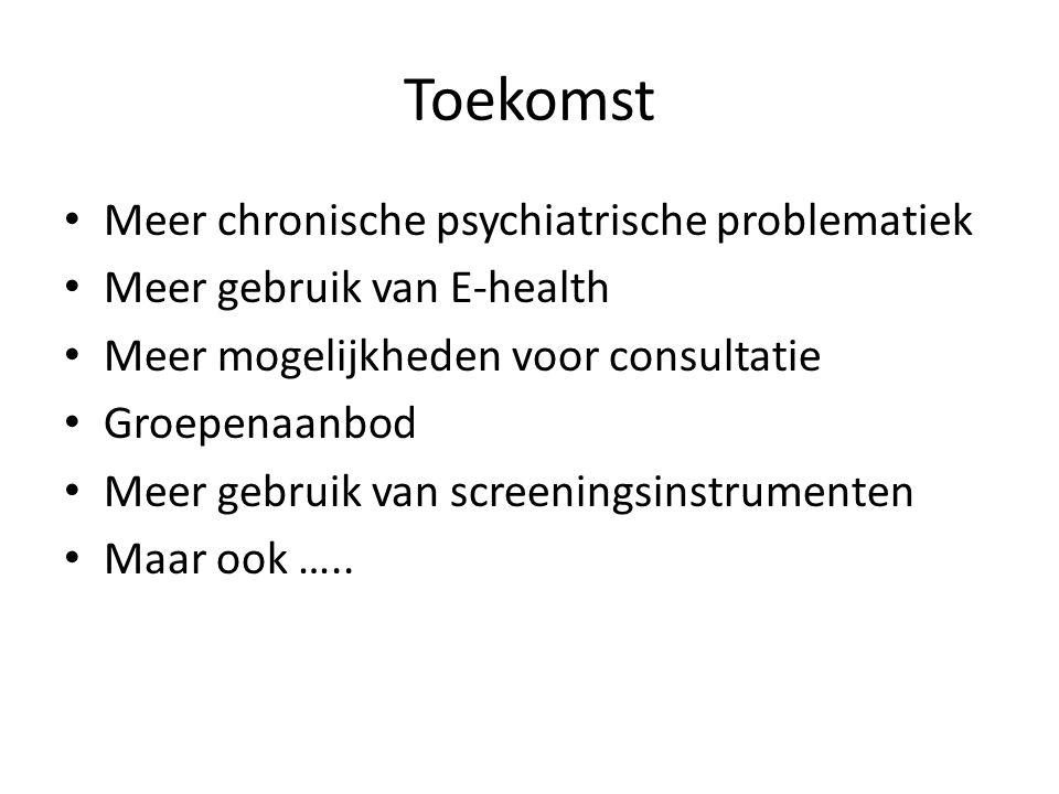 Toekomst Meer chronische psychiatrische problematiek