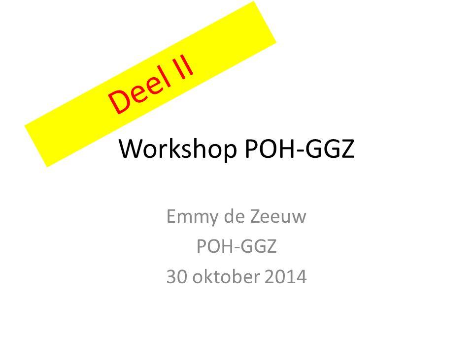 Emmy de Zeeuw POH-GGZ 30 oktober 2014