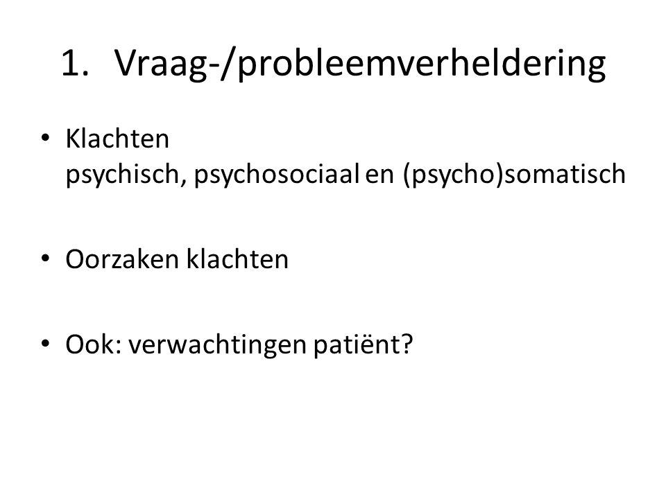 Vraag-/probleemverheldering