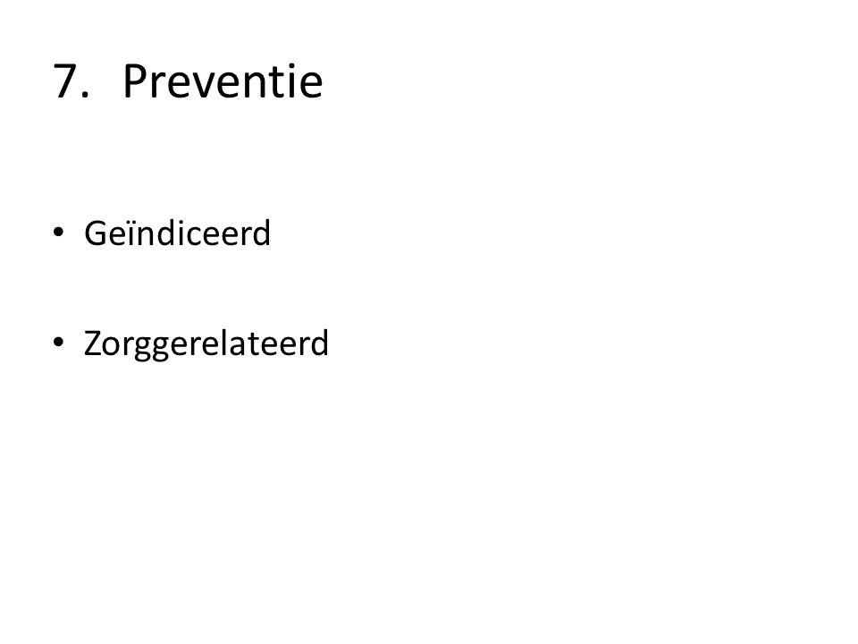 Preventie Geïndiceerd Zorggerelateerd