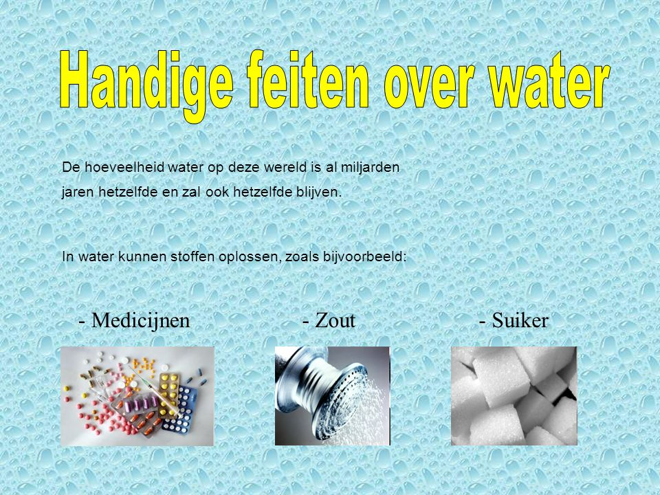 Handige feiten over water