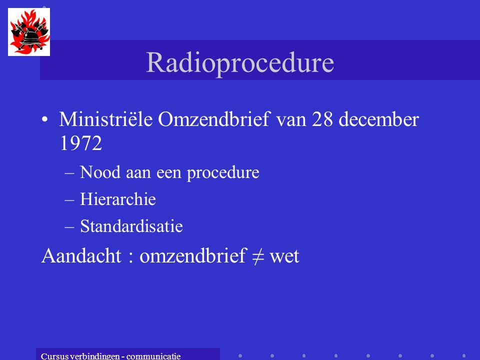 Radioprocedure Ministriële Omzendbrief van 28 december 1972