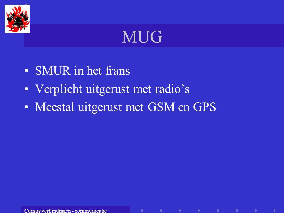 MUG SMUR in het frans Verplicht uitgerust met radio's