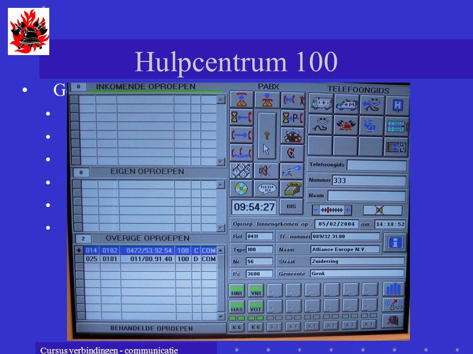 Hulpcentrum 100 Geschiedenis 1960 : invoering 900