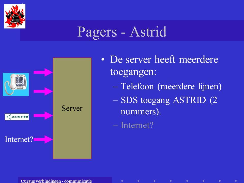 Pagers - Astrid De server heeft meerdere toegangen: