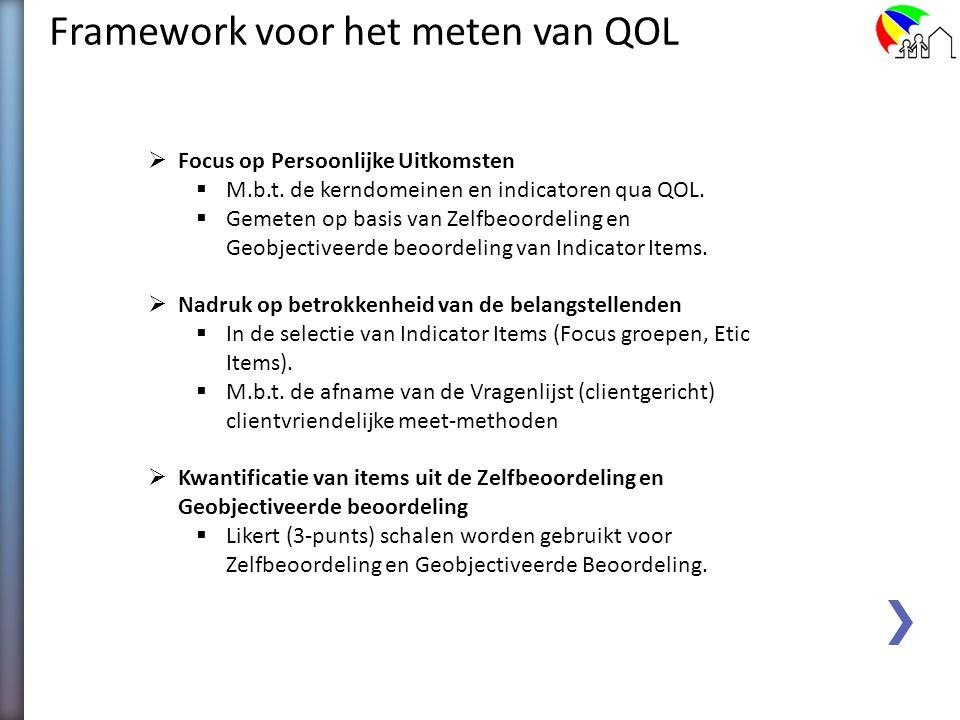 Framework voor het meten van QOL