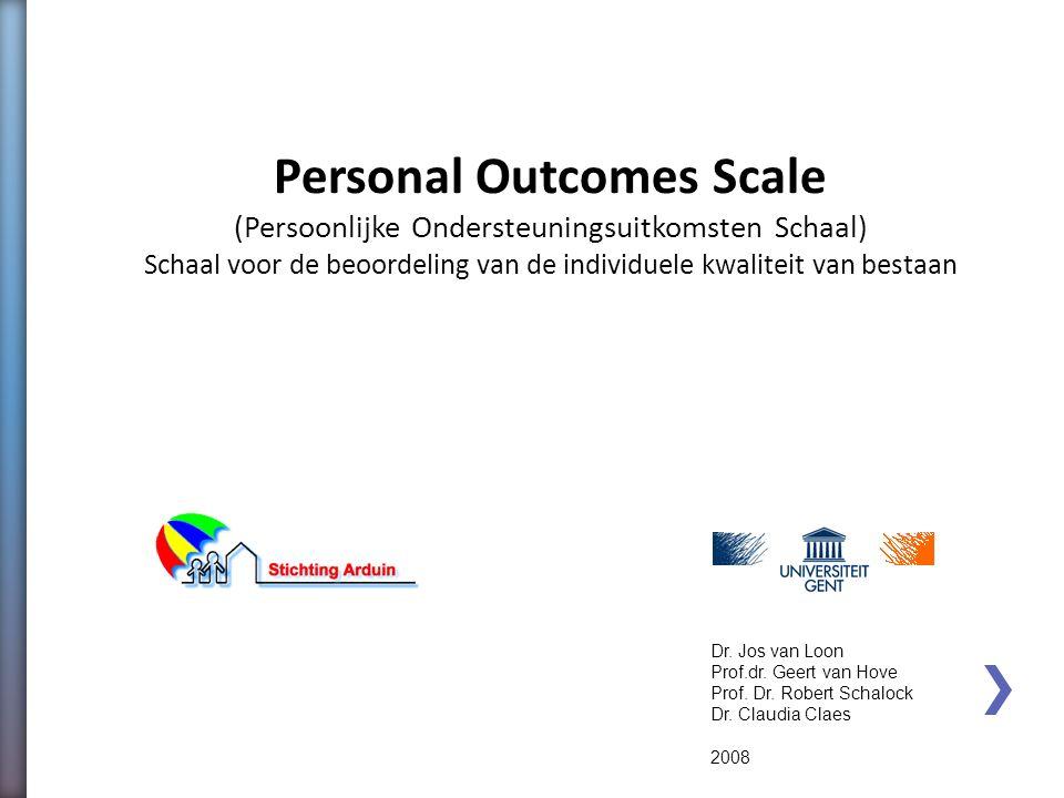 Personal Outcomes Scale
