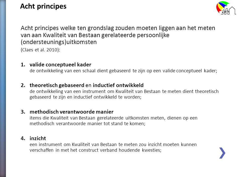 Acht principes