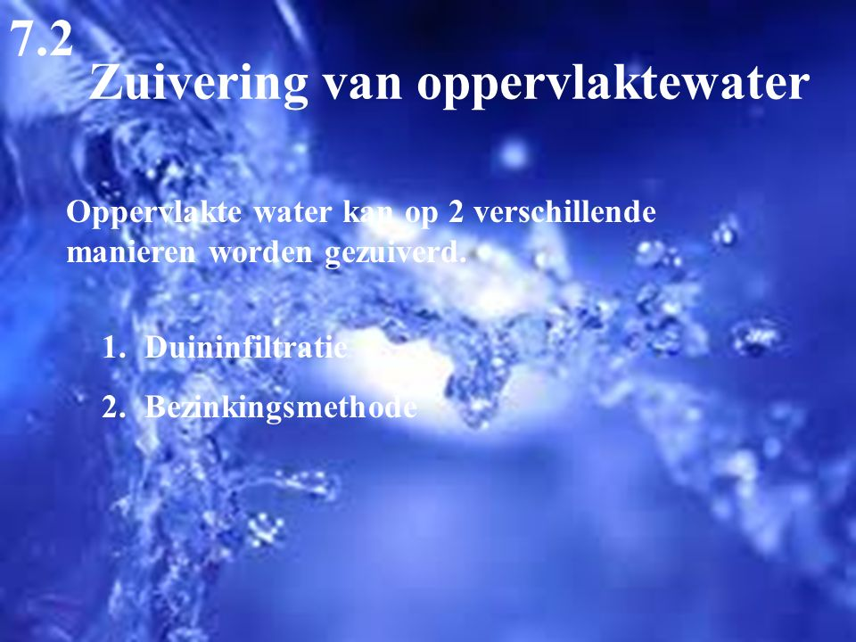 Zuivering van oppervlaktewater