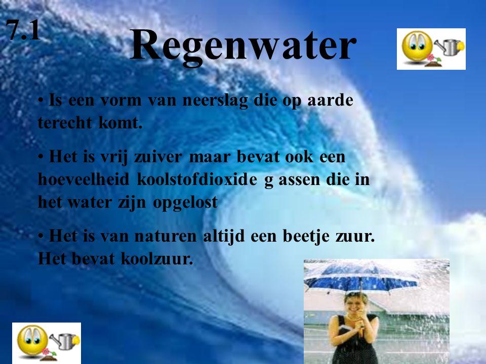 Regenwater 7.1 Is een vorm van neerslag die op aarde terecht komt.