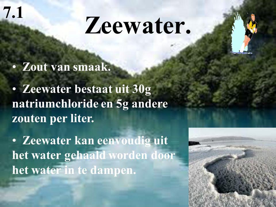 Zeewater. 7.1 Zout van smaak.