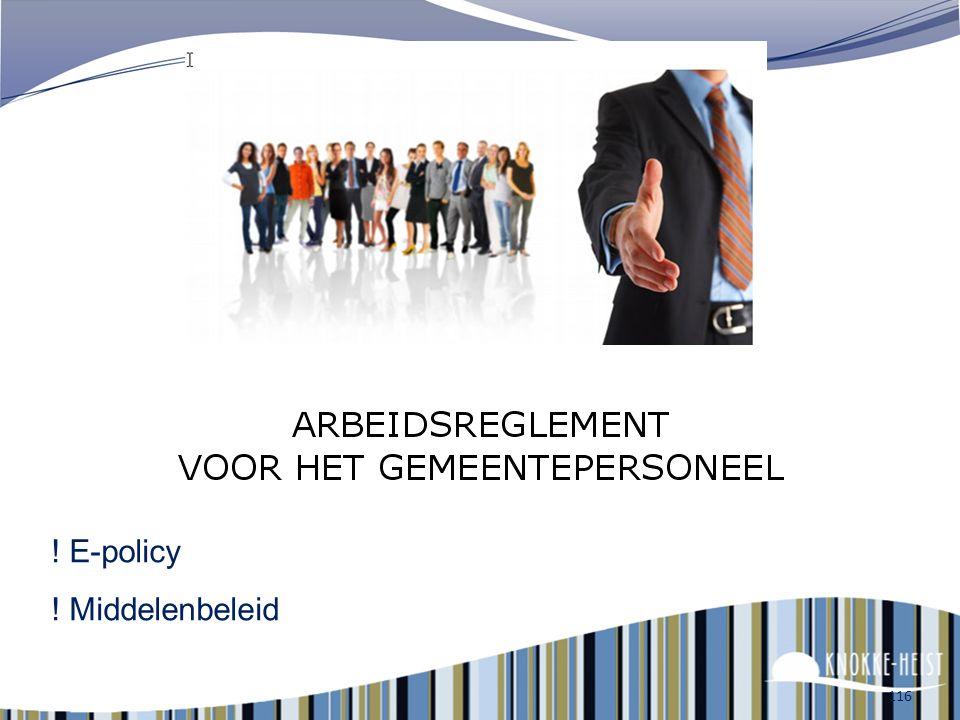 ! E-policy ! Middelenbeleid