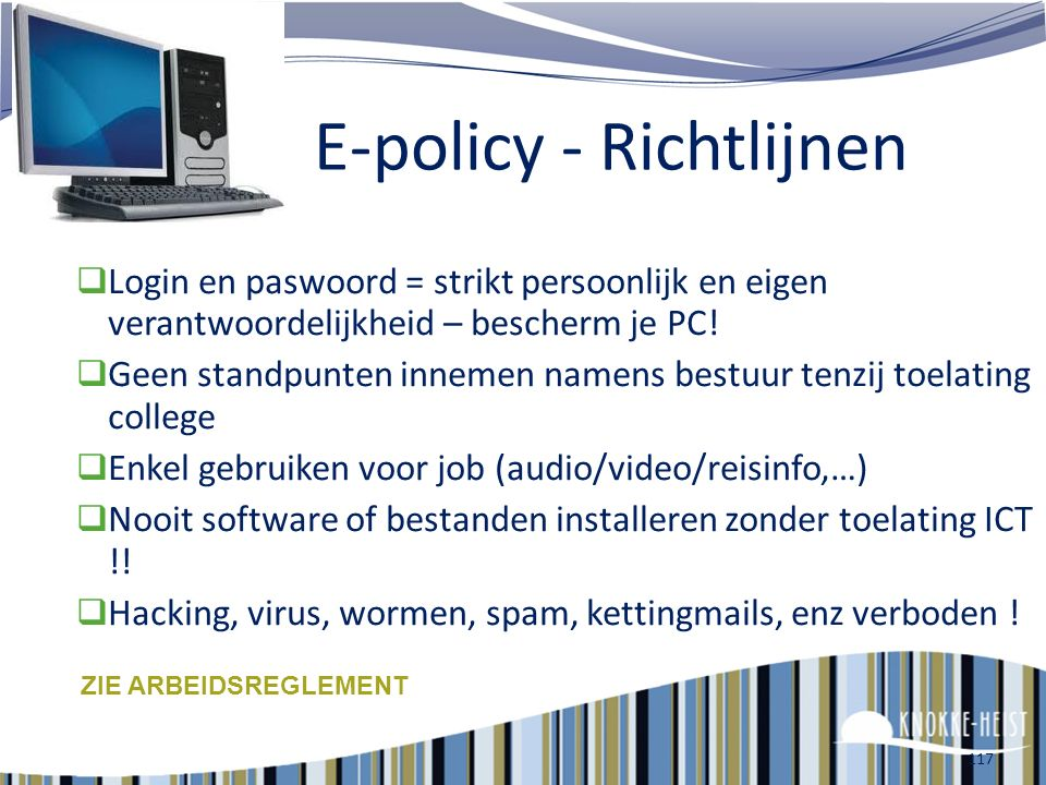 E-policy - Richtlijnen