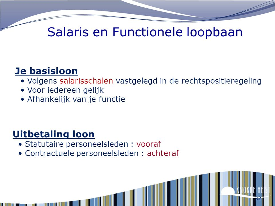 Salaris en Functionele loopbaan