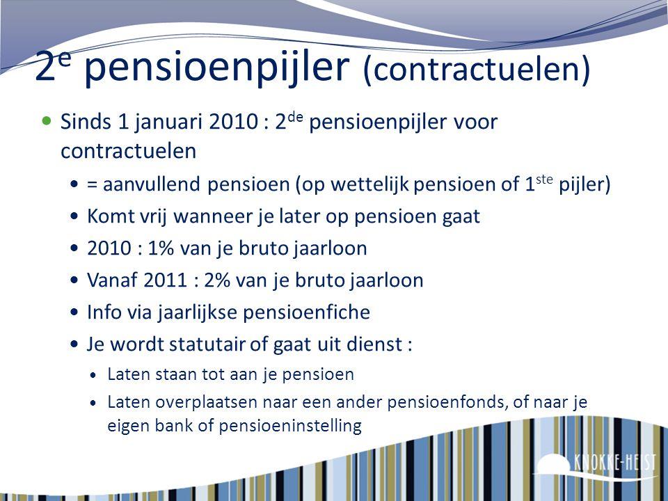 2e pensioenpijler (contractuelen)