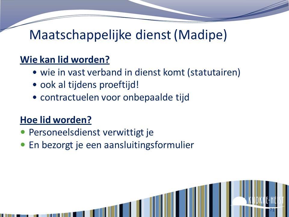 Maatschappelijke dienst (Madipe)