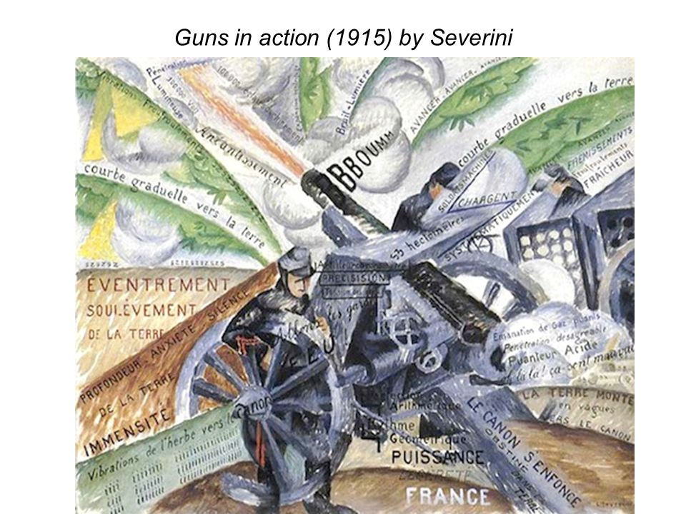 Guns in action (1915) by Severini