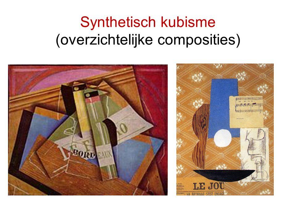 Synthetisch kubisme (overzichtelijke composities)