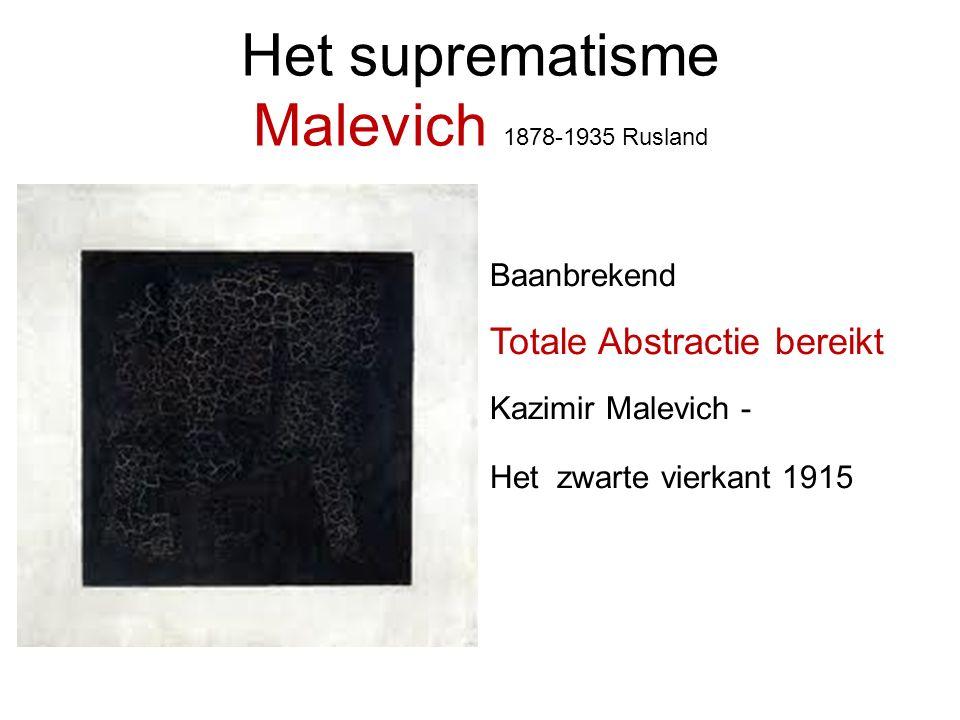 Het suprematisme Malevich 1878-1935 Rusland