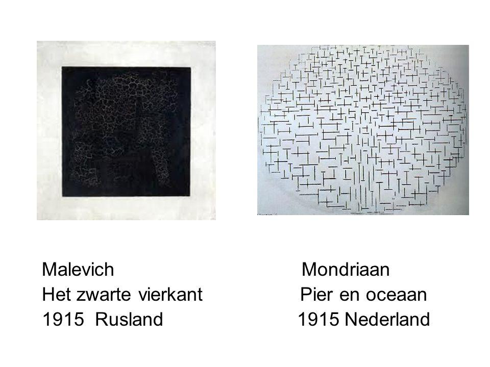 Malevich Mondriaan Het zwarte vierkant Pier en oceaan.