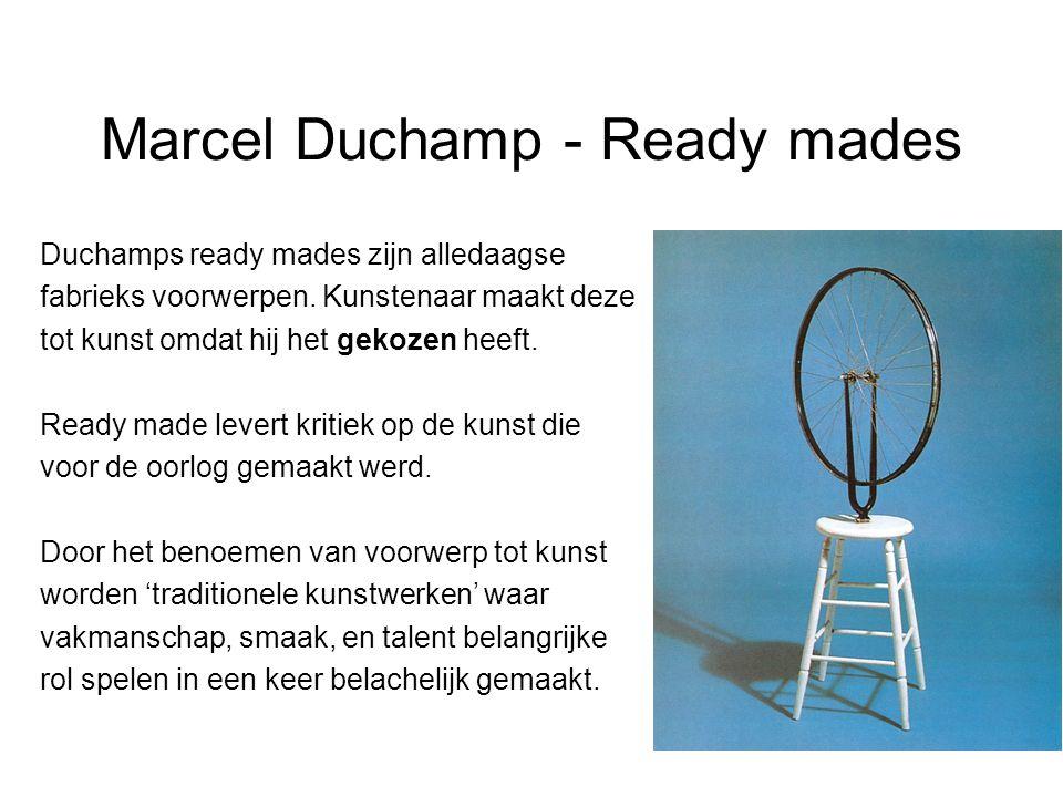 Marcel Duchamp - Ready mades
