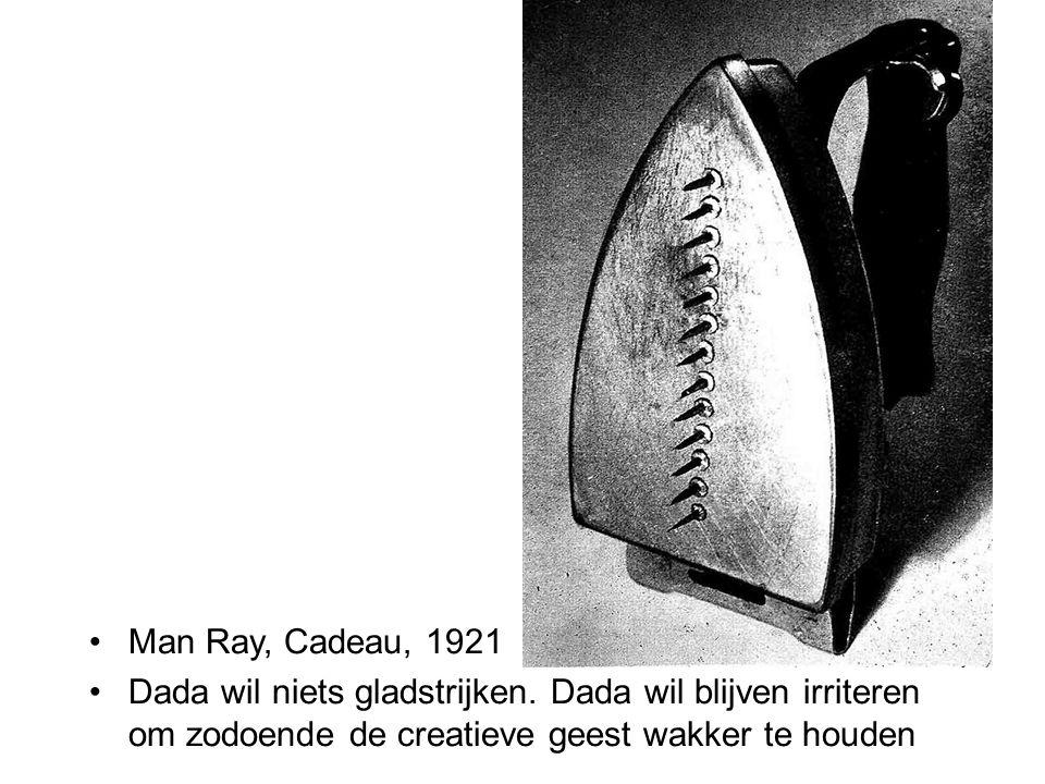 Man Ray, Cadeau, 1921 Dada wil niets gladstrijken.