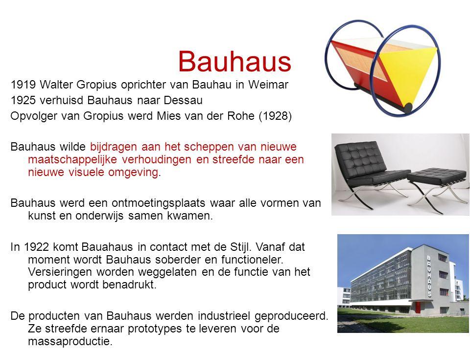 Bauhaus 1919 Walter Gropius oprichter van Bauhau in Weimar