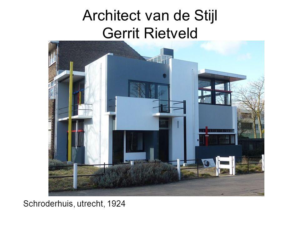 Architect van de Stijl Gerrit Rietveld