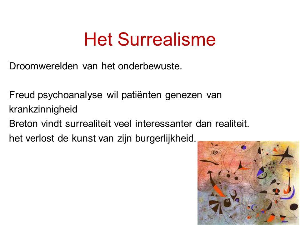 Het Surrealisme Droomwerelden van het onderbewuste.