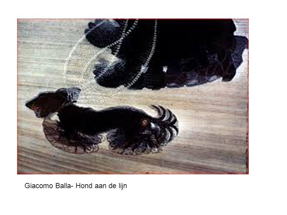 Giacomo Balla- Hond aan de lijn