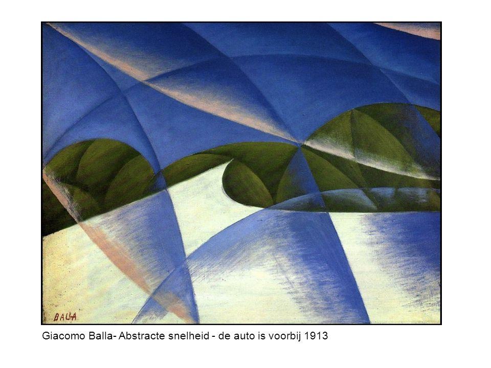 Giacomo Balla- Abstracte snelheid - de auto is voorbij 1913