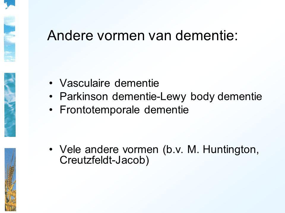 Andere vormen van dementie: