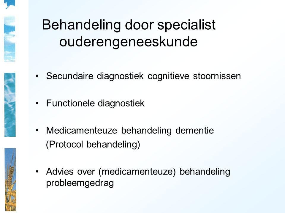 Behandeling door specialist ouderengeneeskunde