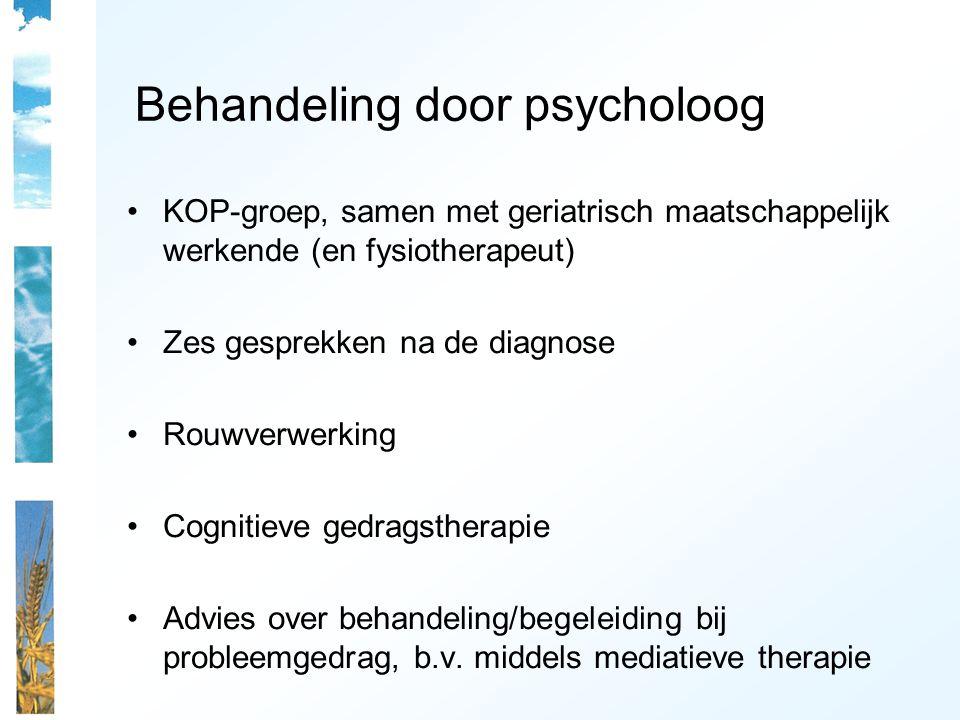Behandeling door psycholoog