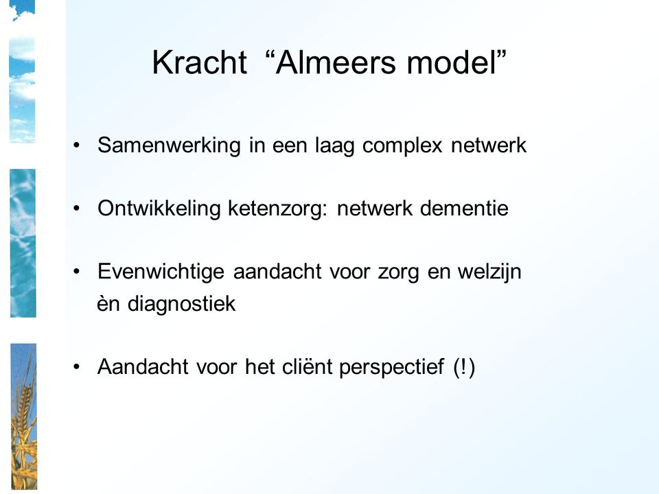 Kracht Almeers model