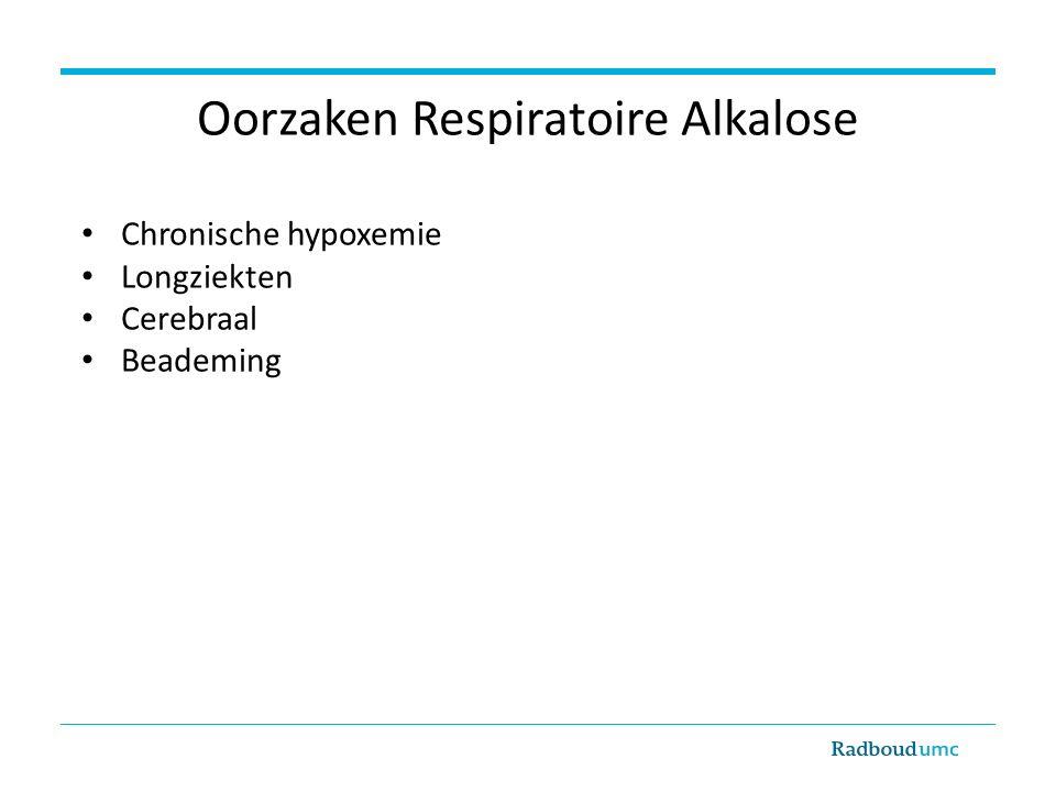 Oorzaken Respiratoire Alkalose
