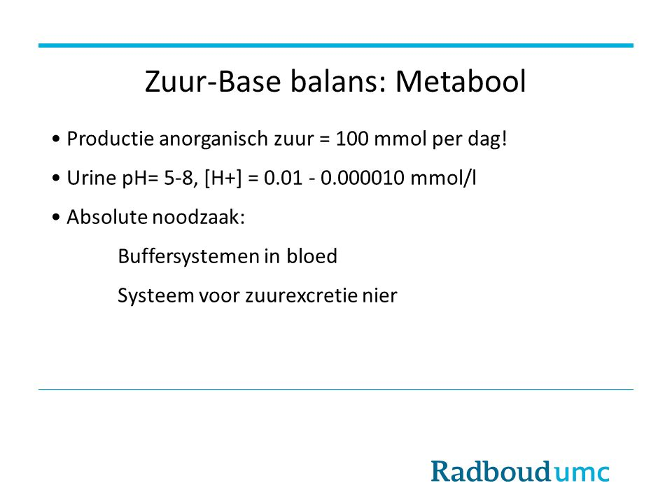 Zuur-Base balans: Metabool