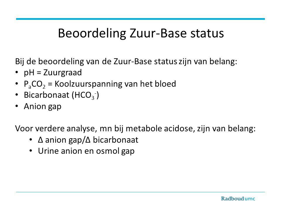 Beoordeling Zuur-Base status