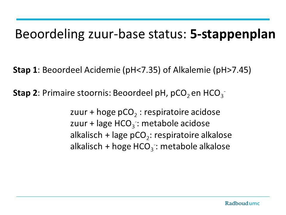 Beoordeling zuur-base status: 5-stappenplan