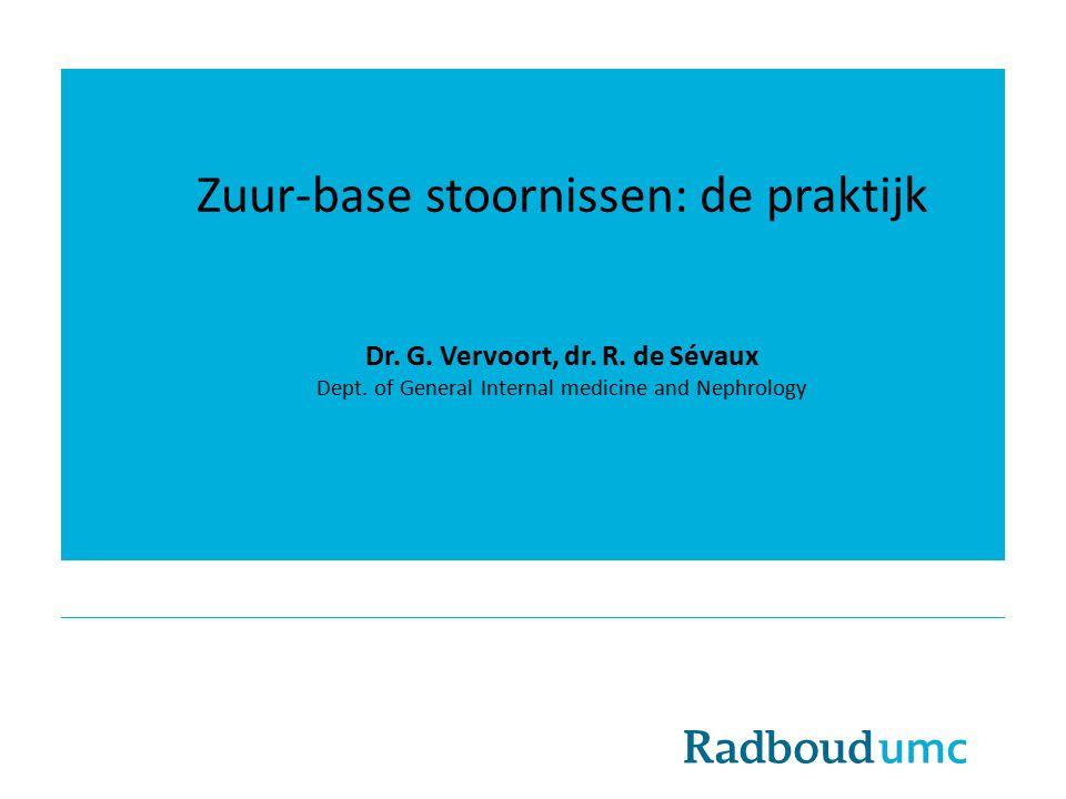 Dr. G. Vervoort, dr. R. de Sévaux